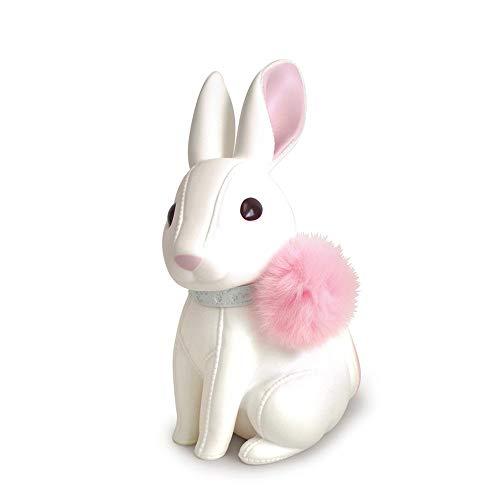 ZAKRLYB Piggy BankPVC Bunny Piggy Bank Impermeable Elástico Weip Wipe Cuello de piel Niña Muchacha de MUCHACHA INTERPORTE ADECUADO PARA ESCRITORIO DE LA MESA DE LA MESA DE LA MESA DE LA CAMA DE LA MES