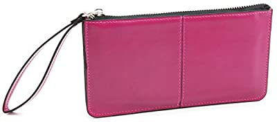 DEEZOMO Women's Leather Clutch Wallet with Wrist Strap Fit for iPhone 6 Plus / Samsung Galaxy S7