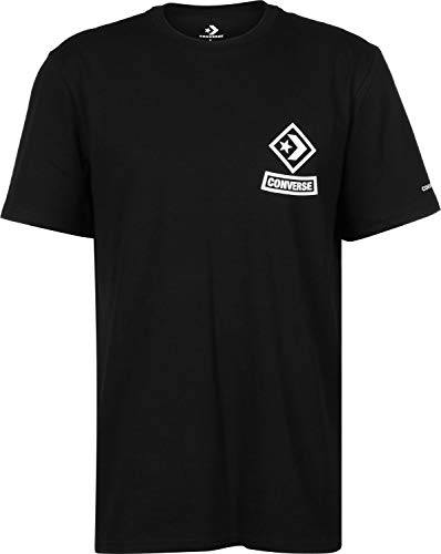 Converse Diamond Arch Tee T-Shirt Black – , Homme, Noir (Black)