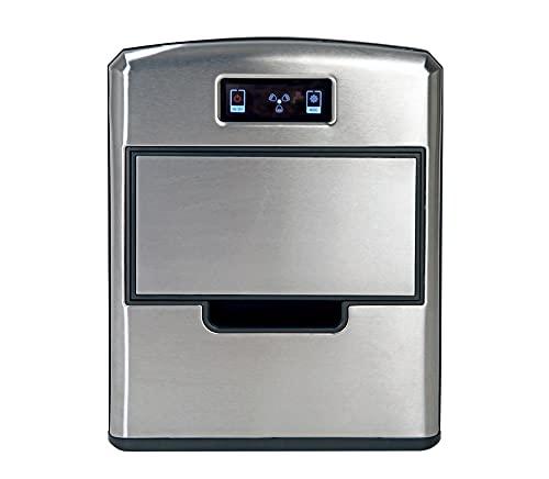 RGV Mojito Ice FG12D 150 W Portable ice cube maker 12 kg/24h Negro, Acero inoxidable - Máquina productora de hielo (150 W, 220 - 240 V, 50 Hz, 260 mm, 345 mm, 330 mm)