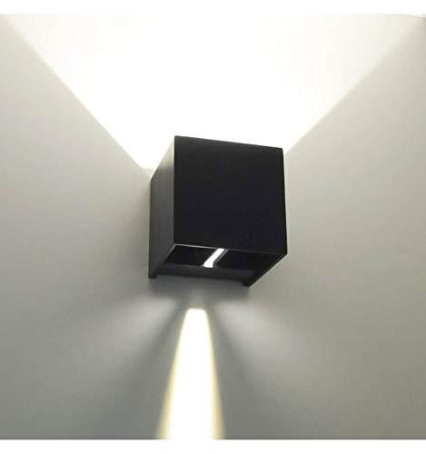 KOSILUM - Lampe murale LED variable 6W - Cubic Blanc - Lumière Blanc Chaud Eclairage Salon Chambre Cuisine Couloir - 6,8W - 500 lm - LED intégrée - IP54