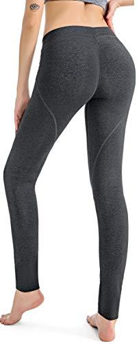 RUNNING GIRL Butt Lifting Leggings,Scrunch Butt Shaperwear Compression Leggings Workout Yoga Pants for Women (1068,XL, Heather Grey)