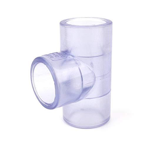 Rohrverbinder 1pc I. D 63-110mm transparenten PVC-T-Steckverbinder Gartenbewässerung Aquarium DIY Equal Tee Industrielle Wasserrohrverbindungen ( Color : Transparent Tee , Diameter : Inner Dia 110mm )
