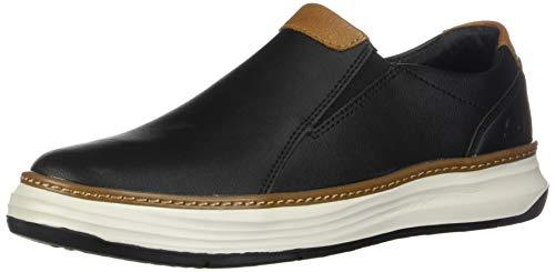 Skechers Moreno Necto Herren Slip On Leder Slipper/Schuhe-Black-44