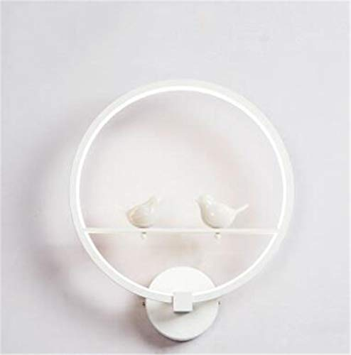 Muur Sconce Lights Ring led Muur Lampen Woonkamer Aisle Achtergrond Cafe Nachtkastje Slaapkamer Wandlamp Dimbaar