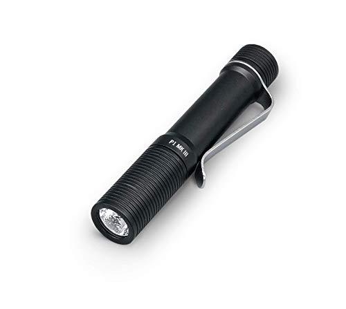 Foursevens Preon P1 MKIII LED Flashlight, Mini Pocket EDC Flashlight with Clip, High CRI, Multiple Configurable Modes including Strobe & Beacon (Black Anodize)