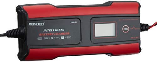Absaar 158004 Batterieladegerät EVO 4 Lithium 6/12V, Rot/Schwarz, 4A