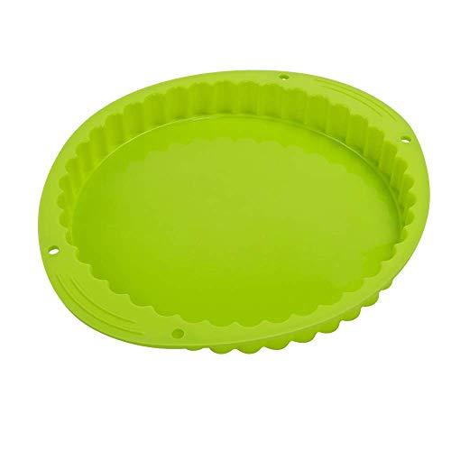 Webake Plat a Tarte Ø 24 cm Moule à Tarte Quiche en Silicone Antiadhésifs Moulle Tartelettes à Fond Amovible - Vert