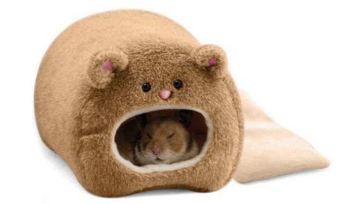 Chilits Hamster cálida cama de invierno con forma de oso de felpa, para hámster, erizo, chinchilla, cobaya.