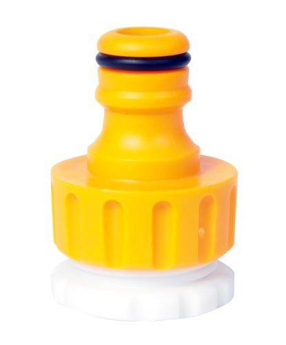 Hozelock 2184 - Conector para grifo de exterior roscado de 3/4'' y 1/2'', color amarillo