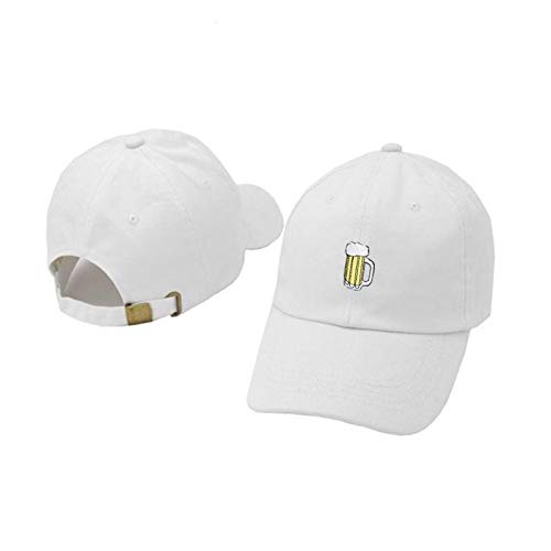WAZHX Bierbecher Baseballmütze Hip Hop Stickerei Hiphop Bier Papa Hut Lässige Frauen Die Rapper Kappe Sport Femen Snapback Hut Adultize White
