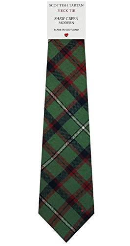 I Luv Ltd Cravate en Laine pour Homme Tissée et Fabriquée en Ecosse à Shaw Green Modern Tartan
