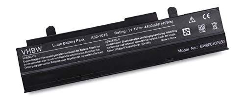 vhbw Akku für Asus Eee PC 1215 1215B 1215N pu17 1215P 1215PE 1215PED 1215PEM 1215PN 1215PW 1215T Notebook Laptop wie A32-1015 - Li-Ion, 4400mAh, 10.8V