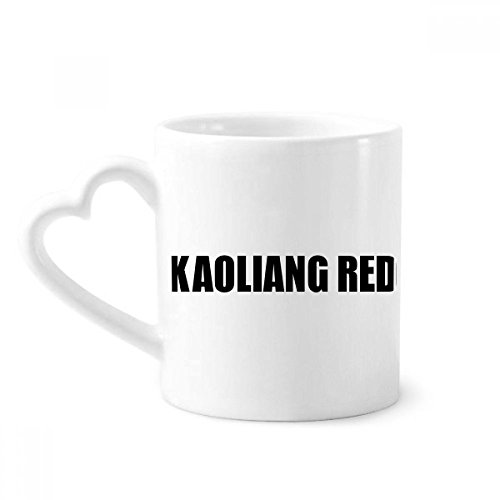 beatChong Kaoliang Color Rojo Negro Nombre de café de la cerámica Taza de cerámica con la manija 12 oz Regalo del corazón