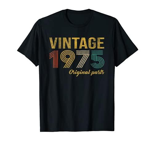 Vintage 1975 Regalo Original Hombre 46 Años Cumpleaños Mujer Camiseta