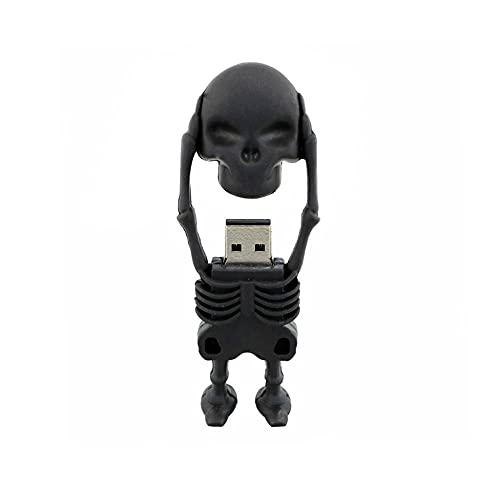 Memoria USB da 64 GB Chiavette USB Scheletro dei cartoni animati USB 3.0 Thumb Drive Pendrive Teschio nero Chiavetta USB Memorizzazione dati esterna Regalo di Halloween - Civetman