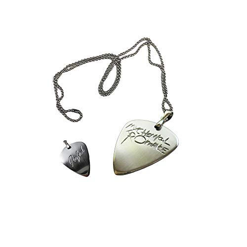 SESERRYY Personalized Custom Pendant My Chemical Romance Necklace Engraving Simple Pattern/Name Customized Guitar Pick for Men Women Boy Girl