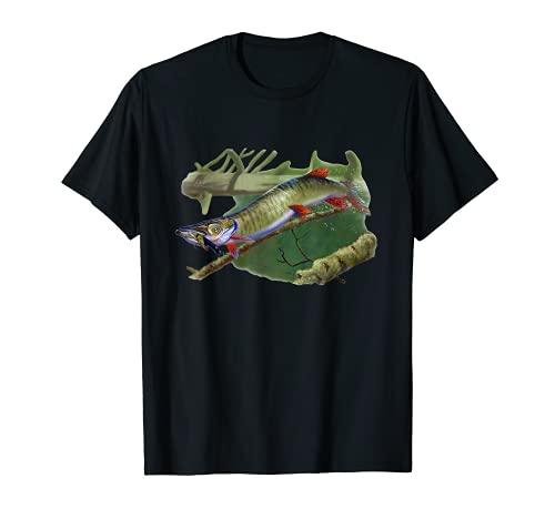 Muskie Hunter Musky Fisherman Señuelo de pesca con mosca Camiseta