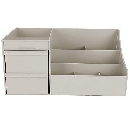Alinory Boîte de Rangement cosmétique, Coffret de Maquillage Professionnel Boîte de Rangement cosmétique Organisateur de beauté de Bureau avec tiroir(Gris)
