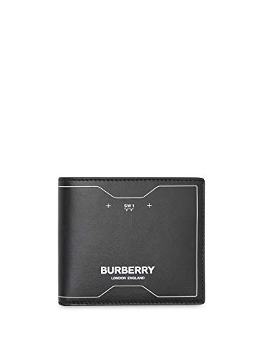 Luxury Fashion   Burberry Heren 8029147 Zwart Leer Portemonnees   Lente-zomer 20