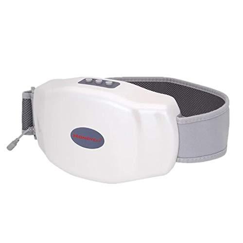 LEENP Portátil Cinturón de Fitness Vibración Grasa Combustión, Cinturón Abdominal de Masaje/Eléctrico Masajeador para Las Mujeres, Adelgazar Abdomen y Cintura, Moldear el Cuerpo Perfecto,White