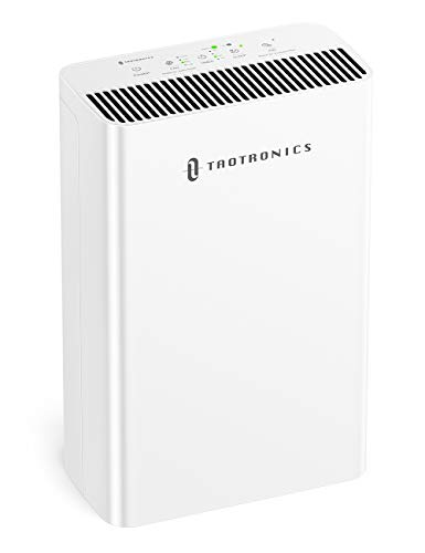 TaoTronics HEPA Air Purifier for Home, Allergies Smoke Pollen Pets, Home Air Cleaner Filtration System, Odors Dust, Sleep Mode Timer Auto Mode Negative Ion Mode, Air Quality Indicator