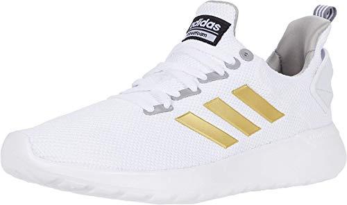 adidas Men's Cloudfoam Lite Racer BYD Running Shoe, White/Gold Metallic/Light Granite, 11.5