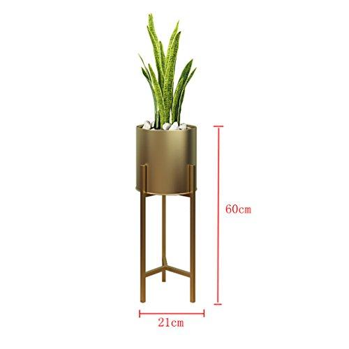 Support de fleur en métal Support de fleur en fer forgé Simple Landing salon Support de pot de fleur Triangle Étagère verte décorative Fleur (taille : A)