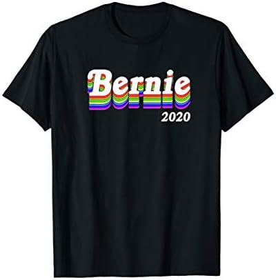 Bernie Sanders 2020 Rainbow LGBTQ Gay Pride T Shirt product image