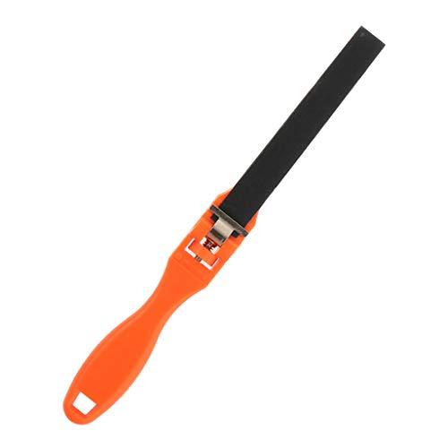 Bonarty Griff Schmuck Polierwerkzeuge Schleifpapier Lineal Kunststoffstange Schleifstift - Orange 27x1.8cm