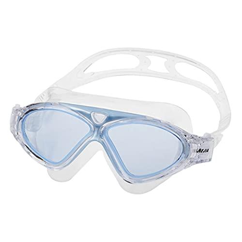 JYDZSW Gafas de natación Marco natación Gafas Anti-Niebla Impermeable Gafas de Piscina para Adultos con tapón de natación para Hombres para Hombres Deportes Gafas de Buceo (Color : Sky Blue)