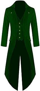 XuBa Men Coat Fashionable Punk Retro Tailcoat Jacket Gothic Frock Coat Tops