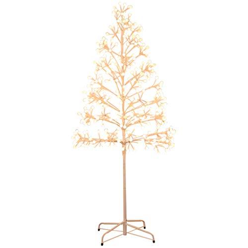 Arbre de fleurs de cerisier à couleur contrôlée éclairé avec 200 DEL, rameau de Noël de 5 pieds / 1,5 M (Color : Warm white light)