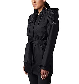 Columbia Women s Pardon My Trench Rain Jacket Breathable Lightweight Black XX-Large