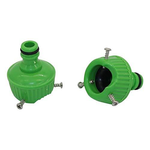 Durable 2pcs Universal Water Faucet Nipple Conector con 3 PCS Terreno de sujeción WaterTap a Tubo de Manguera Herramienta de tubería de riego Accesorios de riego (Color : Green)