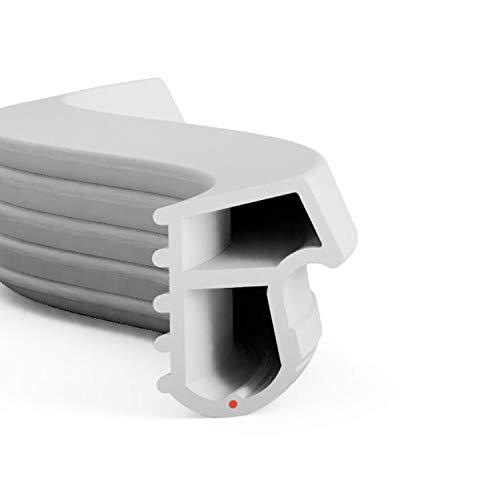 DIWARO® Stahlzargen-Dichtung SZ090 | weiß, braun oder grau | 5 lfm für Haus- und Innentüren. Zum Schallschutz und abdichten der Tür. Bestehend aus TPE (Thermoplastischen Elastomer) (grau)