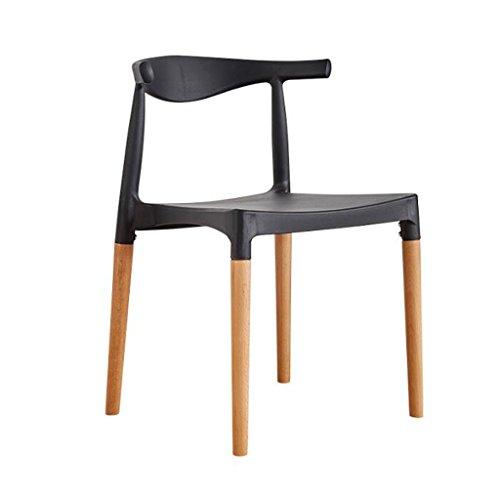 PRIDE S Plastic Hoorn Stoel Rugleuning Moderne Eenvoudige Huishoudelijke bureaustoel Eetstoel Casual Onderhandelen Tafels En Stoelen Thuis stoelen