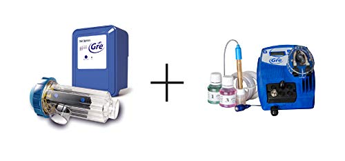 Gre SCGPH100 – Clorador Salino + Controlador de pH, para Piscinas de hasta 90 m3, 21 gramos/hora