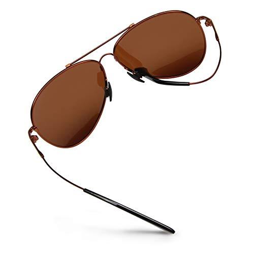 WHCREAT Gepolariseerde Zonnebril Pilotenbrillen UV400-Bescherming voor Heren Dames