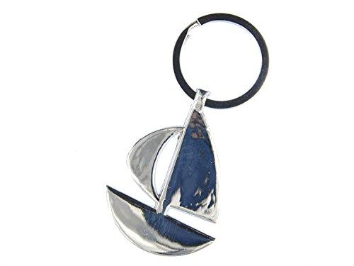 Miniblings Segelschiff Schiff Schlüsselanhänger - Handmade Modeschmuck I Anhänger Schlüsselring Schlüsselband Keyring - Segelschiff Schiff