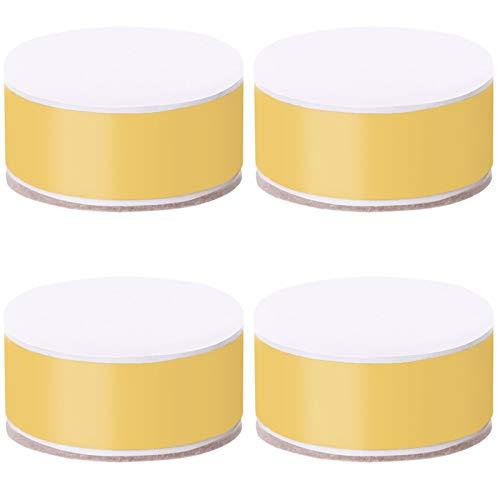 ZHXY Betterhöhung,3.2cm Betterhöhung 4 Stück massiver Stahl selbstklebend Möbelerhöhung oder Bettlift schafft zusätzliche Höhe für Tisch,Stuhl,Schreibtisch oder Sofa schwarz.