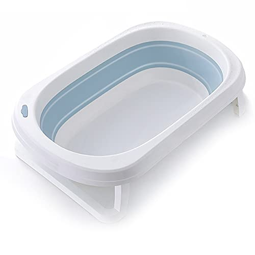 catch-L Bañera Lavabo De Ducha Plegable Portátil con Cojín, Bañera Plegable Azul/Verde/Rosa para Niños Pequeños(Size:80X50cm,Color:Azul)