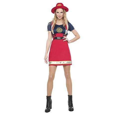 Car&Gus Disfraz de Bombera Americana para Mujer