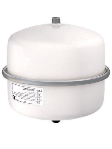 Flamco-Wemefa 26233 Membran-Druckausdehnungsgefäß Contra-Flex 25, 1.5 bar, nach DIN 4751-2, weiß