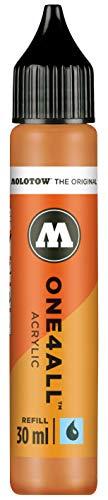 Molotow ONE4ALL Refill Acryl, Farbe 208 ocker braun hell 30 ml, Nachfülltinte für Permanentmarker