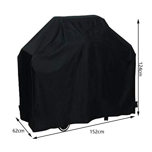 RUANMU Couverture De Meubles Housse De Protection Meubles Couverture, Noir Tissu Oxford Couverture De Barbecue, Imperméable/Crème Solaire (152 * 62 * 124Cm)