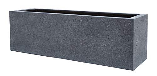 VAPLANTO® Pflanzkübel Box 60 Blei Grau Rechteckig * 60 x 20 x 20 cm * Manufaktur Qualität * 10 Jahre Garantie