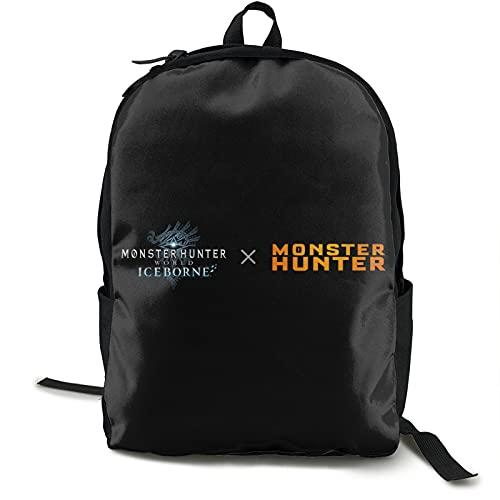 Mo-Nster Hun-Ter World - Mochila de viaje para ordenador portátil, antirrobo, resistente al agua, mochila escolar para ordenador portátil para hombres, mujeres y estudiantes universitarios