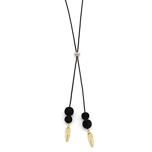 LIZAS Halskette Pom-Pompous schwarz