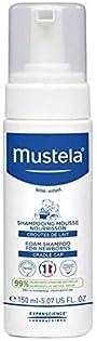Mustela Cradle Cap Foam Shampoo for Newborn - Baby Shampoo - with Natural Avocado - 5.07 Fl Oz